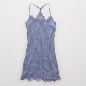 Aerie   Blue satin nightgown dress